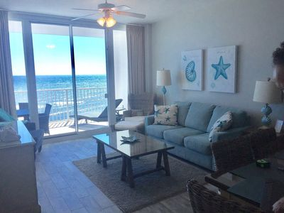 Living Room that opens to Gulf Front Balcony