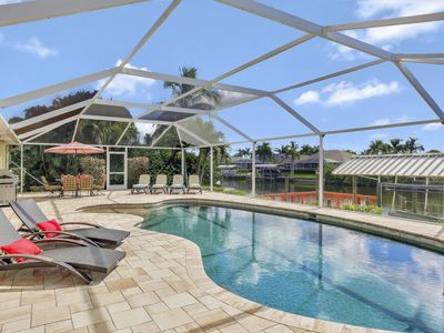Photo for South Facing With Gorgeous Custom Pool, Gulf Access & Huge Pool Deck