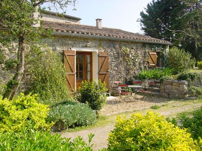 Photo for Stone house with garden, quiet, south of France. Wine village