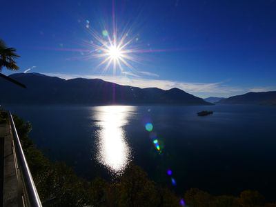 Photo for Dream holiday villa, on Lake Maggiore, full lake view, parking in front of the villa