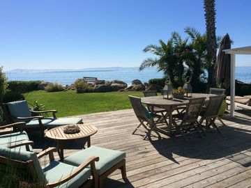 Beachfront Cottage with Guest House on Santa Barbara's Padaro Lane