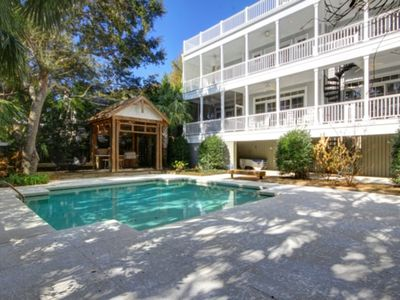 Photo for Luxury, Modern Beach Home w/Private Pool, Elevator, & Fabulous Rooftop Deck w/Great Views!! Outdoor Grilling Station Near Pool! Only 25 minutes to downtown Charleston!