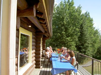 Lunch on the Lodge deck