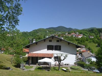 Photo for Rustic house in mountain surroundings and views from a lovely garden