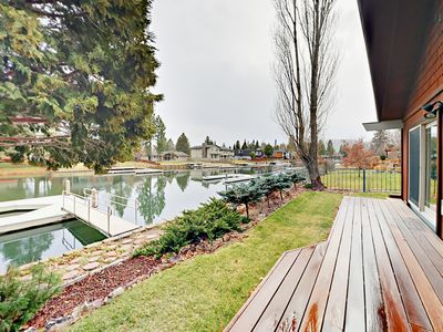 Photo for 4BR Waterside Home w/Boat Dock - Minutes to Skiing & Downtown