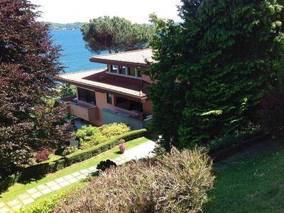 Photo for Private villa about two kilometers from Stresa with a beautiful lake view
