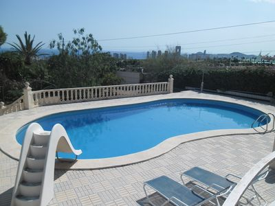 Photo for Spectacular Villa Carousel in Benidorm with pool and sea views.