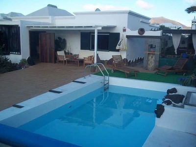 Photo for House in Playa Blanca with Internet, Pool, Balcony, Garden (970348)