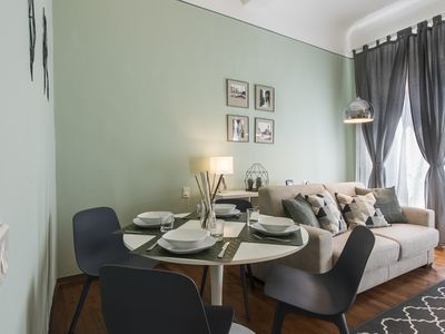 Photo for Panzani - Bright apartment steps from Florence Cathedral