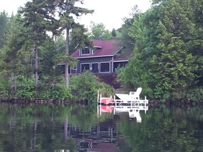 View of the cottage from the water
