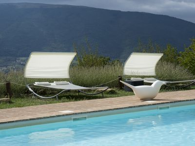 Photo for Italian Country House with 7 bedrooms and panoramic pool in the hills of Assisi
