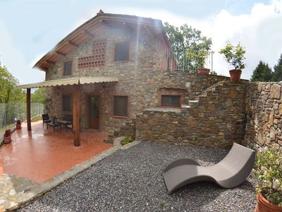 Photo for Wonderful private villa for 6 guests with WIFI, private pool, TV, panoramic view and parking