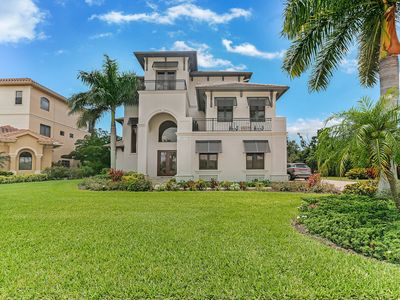 Photo for New Listing! Luxury Home w/ Gulf Views & Private Pool Area, Walk to Beach