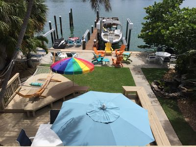 Photo for Waterfront Vacation Rental With Private Boat Dock and Beach Access