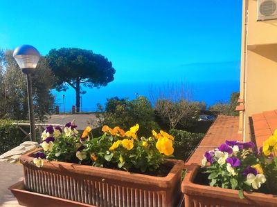 Photo for Romantic terrace sea view
