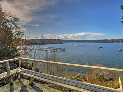 Photo for Waterfront Vashon House w/ Beach Access Path!