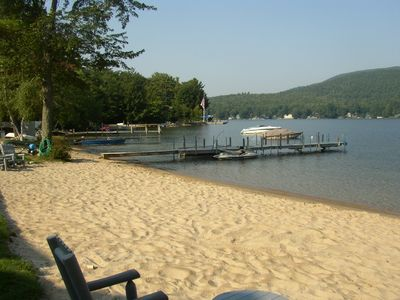 Photo for Winnipesaukee Lake Front- gorgeous private sandy beach & dock