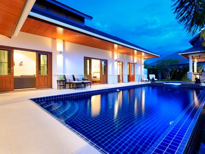 Photo for Hua Hin Luxury Bali Villa with private pool and BBQ, 4 bedrms, 3 bath, sleeps 8