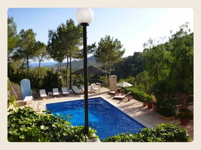 Photo for Charming villa with pool and splendid views close to Ibiza