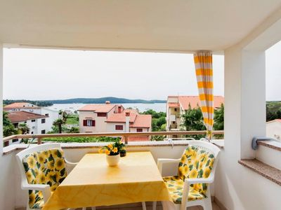 Photo for One bedroom apartment with balcony and sea view Medulin