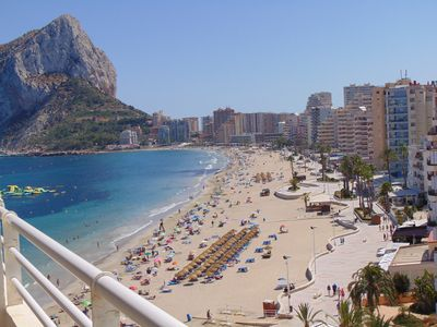 Photo for Apartment in front line beach in Calpe