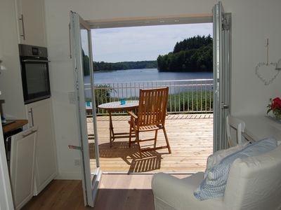 Photo for New first time 7/18. House in direct Seelage lake terrace, bathing lake