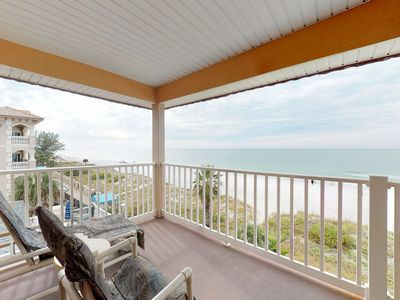 Photo for NEW LISTING! Gulf-front condo w/ shared pool and amazing views, moments to beach