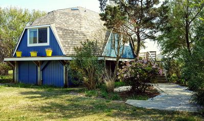 Photo for The Blue Pearl: A retro dome home just steps away from soft, sandy beaches!