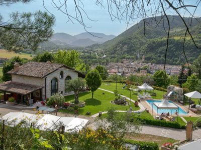 Photo for Lovely holiday home with swimming pool, spacious garden, beautiful view and a pony