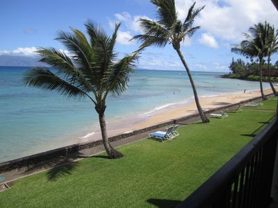 Photo for Lokelani Maui Oceanfront Corner Unit A/C Non-Smoking Condo- Panoramic Views