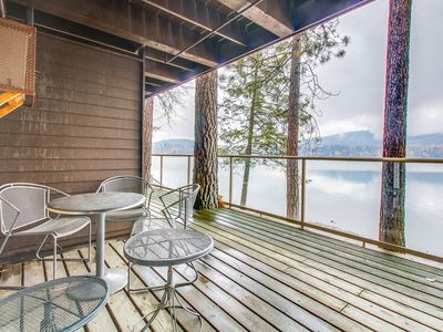 Photo for Lakefront condo with great views and convenient location near skiing
