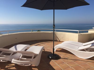 Photo for NEW - Beautiful duplex with sea view 180 ° (1st line) - Estepona / Marbella