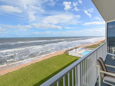 Photo for Spacious 3 bedroom 3 bath North corner condo on the car free beach.