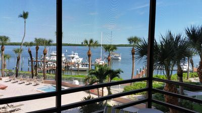 Photo for Wide waterfront view, king size bed, walk in shower,  WiFi