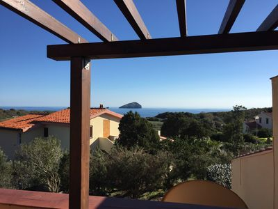 Photo for Panoramic two-room apartment by the sea - south Sardinia