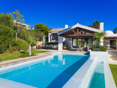 Photo for This 6-bedroom villa for up to 12 guests is located in Marbella and has a private swimming pool, air