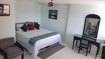 Photo for Spacious Ocho Rios Beach Apt with A/C, Cable TV, WiFi, Kitchen, Coffee & View