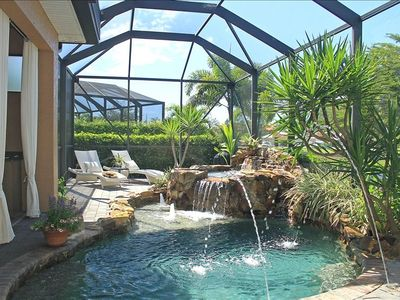 Heated Saltwater Pool/Spa with Rock Waterfall