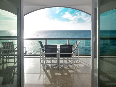 Photo for Absolutely stunning views!  Amazing 4 Bdrm Oceanfront Condo (EC5AS)