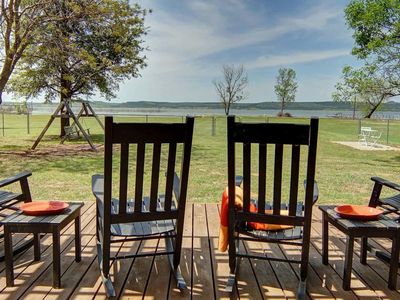 Photo for FISHING SPECTACULAR! Beachfront 3 bedroom on Possum Kingdom Lake