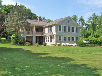 The large 2 acre lot provides loads of privacy and views of Sandy Neck and Cape Cod Bay beyond
