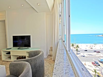 Photo for Beautiful and renovated apartment! 2 bedrooms with beautiful views of Copacabana