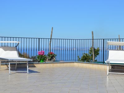 Photo for Charming Country Villa in Sorrento Coast with garden, terraces, sea view.