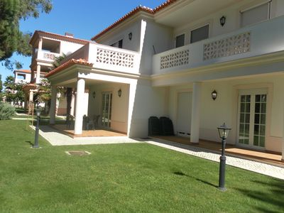 Photo for Luxury 3 Bed Ground Floor Apartment close to golf and tennis with heated pool