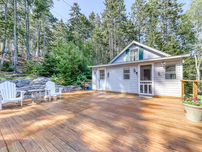 Photo for Bayview home & adjoining apartment w/ deck, shared dock & access to Linekin Bay!