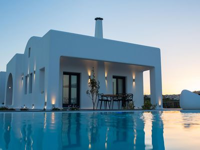 Photo for Zania Santorini Residence 3 Bedrooms 2 Bathrooms Private Pool Up to 6 Guests A privileged property of interior elegance and abundant outdoor spaces !