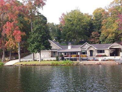 Photo for Comfy Lake Home With 176 Ft. Lake Frontage, Memorable Sunrises & Sunsets