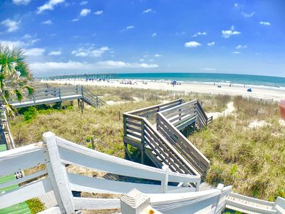 Photo for Almost Heaven Oceanfront A/C Top Unit Great Views Pier On Beach! Free WiFi