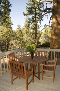 The Kopitch Cottage has a large deck to enjoy the mountain air.