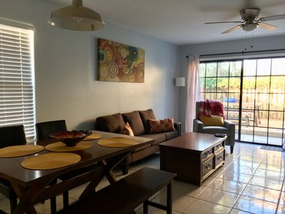 Photo for Walk to the ocean, restaurants, shops from this fully equipped townhouse!